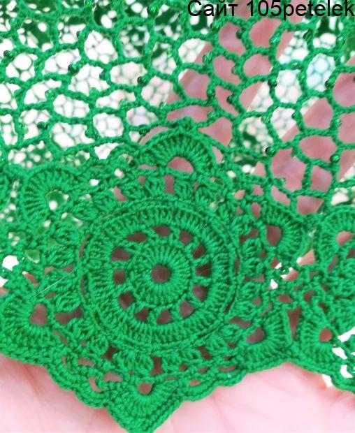 шестиугольный мотив для платья