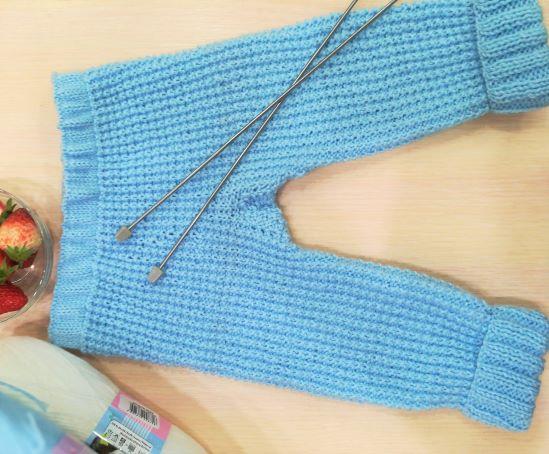 штанишки спицами для новорожденных