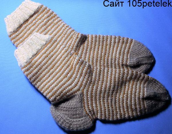 Способы вязания носков спицами