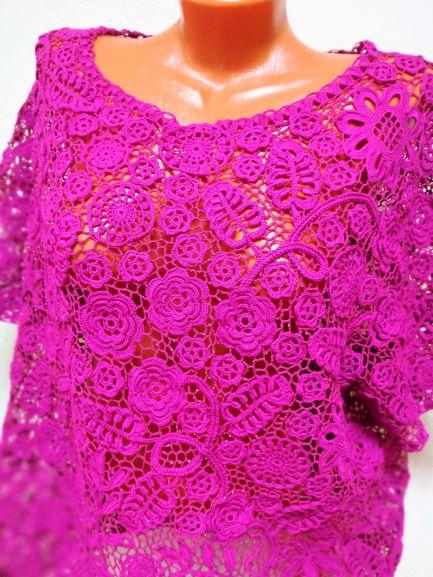 Блуза - ирландское кружево крючком