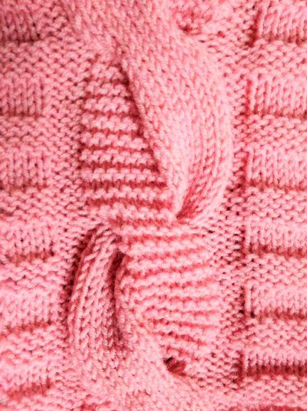 Вязание спицами жгута косой схема